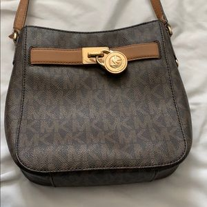 Michael kors hand bag brown/black